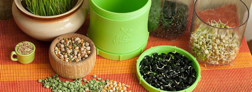 Пророщувати з Green Vitamin легко та зручно!